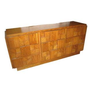 Lane Mid Century Brutalist 9 Drawer Dresser