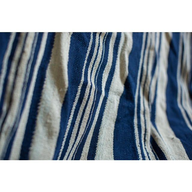 Image of Vintage Indigo Stripe Throw
