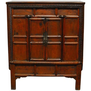Chinese Carved Two-Door Cabinet Chest