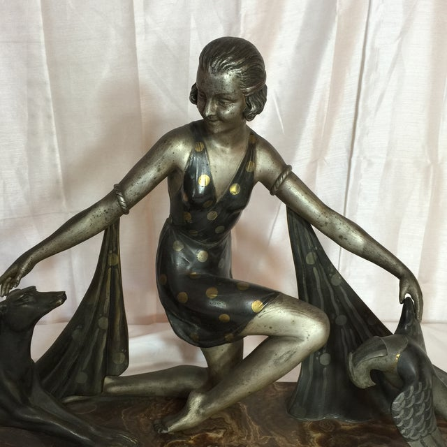 Image of G. Arisse Art Deco French Woman Statue