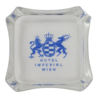 Vintage Hotel Imperial Wien Glass Ashtray