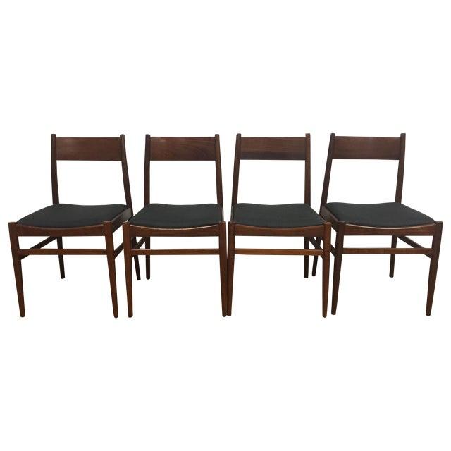 Italian Mahogany Dining Chairs - Set of 4 - Image 1 of 11