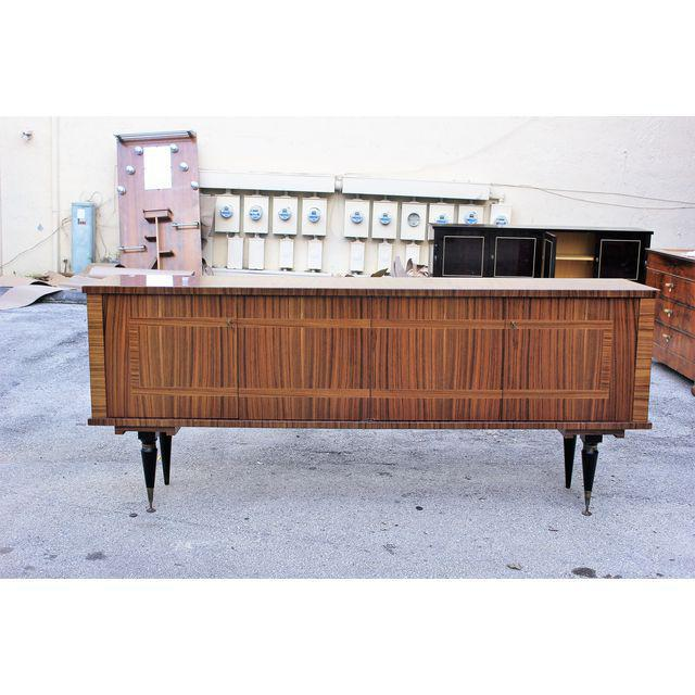 1940s Vintage French Art Deco Macassar Ebony Sideboard or Buffet/Bar - Image 9 of 10