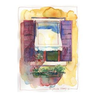 Italian Window IV Original Painting by Yevgenia Watts