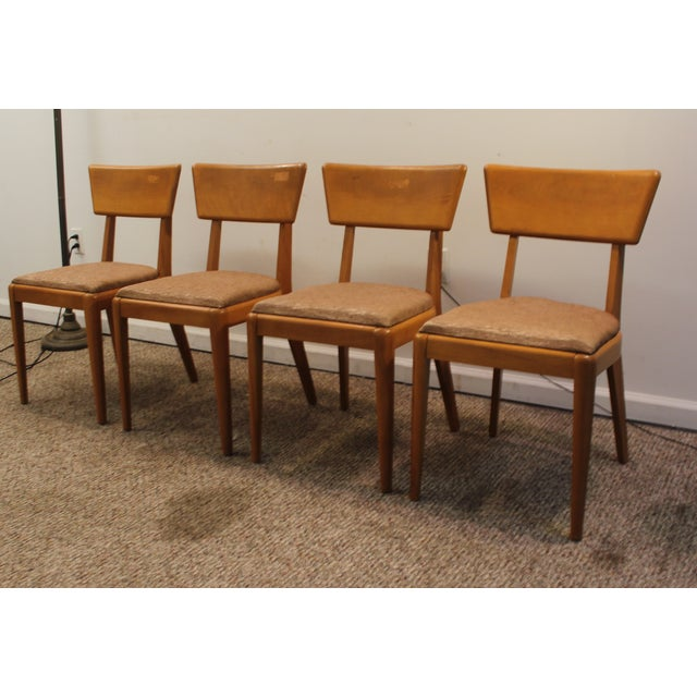 Image of Heywood Wakefield Champagne Chairs - Set of 4