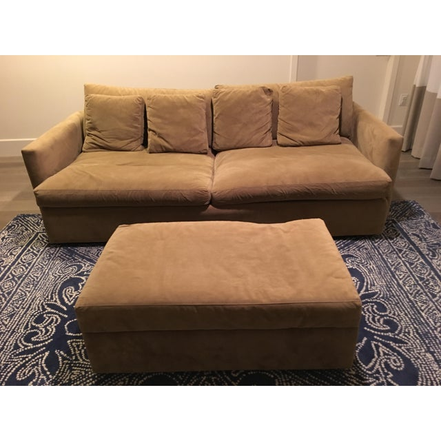Crate & Barrel Lounge Collection - Sofa and Ottoman - Image 4 of 4