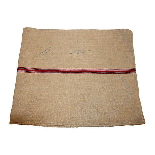 Vintage Striped European Grainsack - Image 1 of 3