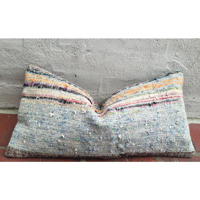 Moroccan Striped Kilim Pillow Cover - Image 10 of 11