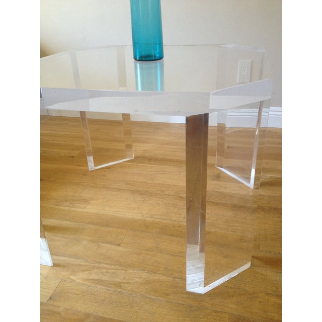 Charles Hollis Jones Vintage Lucite Side Table - Image 5 of 7