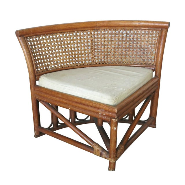 Rattan & Wicker Dining Table & Four Hidden Chairs - Image 9 of 10
