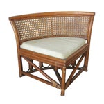 Image of Rattan & Wicker Dining Table & Four Hidden Chairs