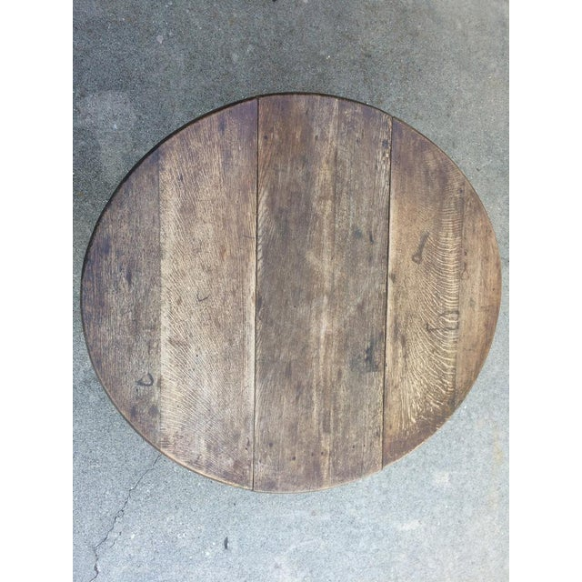 Antique 19th C. English Oak Drop-leaf Gate Leg Table - Image 2 of 10