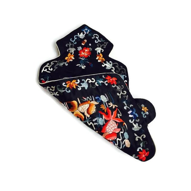 Vintage Chinoiserie Satin Hot Water Bottle Cover - Image 5 of 6