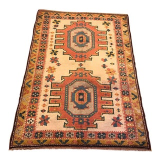 "Vintage Kars Turkish Rug - 4'10"" X 7'"