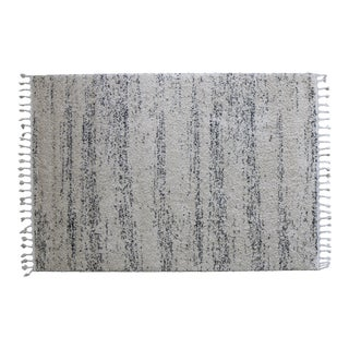 Abstract Faded Stripes Shag Rug - 5'4''x8'