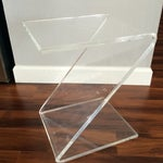 Image of Vintage Lucite Z End Table Mascheroni Style