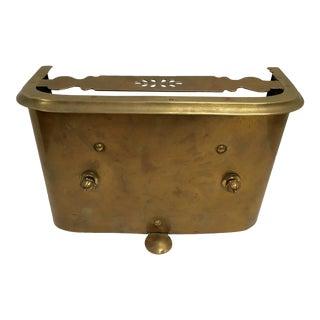 Antique 1800s Brass Fireplace Fender