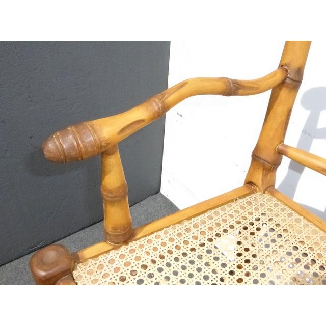 Faux Bamboo Bahama Style Bar Stools - A Pair - Image 7 of 11