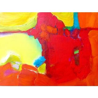 V.E.Thomson Original Painting - Red Rock