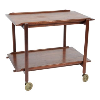 Mid-Century Modern Poul Hundevad for Raymor Rosewood Teak Bar Cart