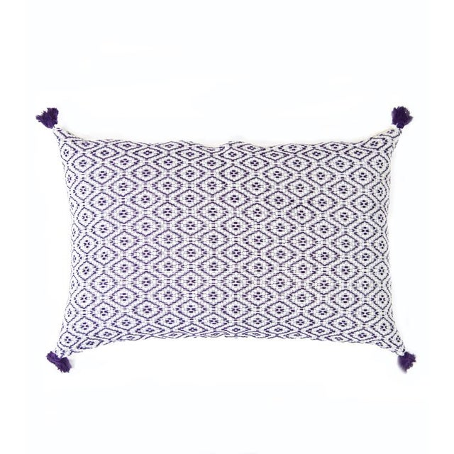 Handwoven Mexican Purple Pillow - Image 1 of 5