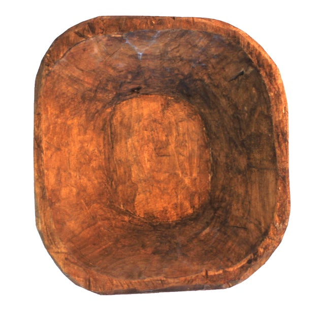 Image of Hand-Carved Mexican Dough Bowl