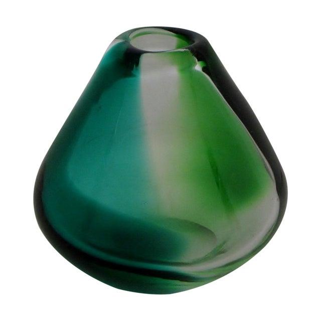 Erickson Vintage Blue & Green Glass Vase - Image 1 of 6