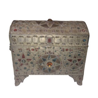 Bohemian Silvered Metal Chest