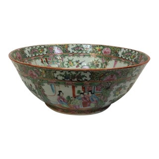 Antique Chinese Rose Medallion Bowl