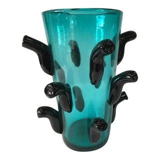 Whimsical Oversized Murano Vase, Signed