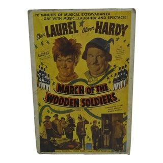 """Laurel & Hardy """"March of the Wooden Soldiers"""" Movie Poster"""