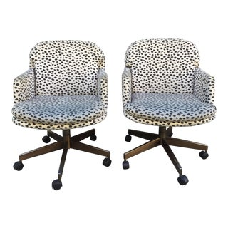 Contemporary Swivel Office Chairs - A Pair