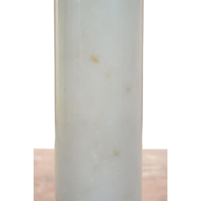 19th C. Italian Carrara Marble Carved Pillar Stand - Image 5 of 10
