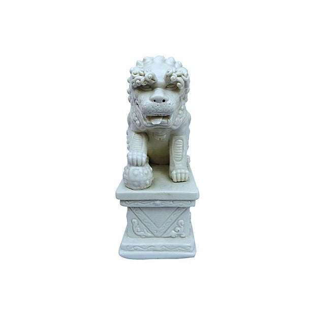 Blanc De Chine Foo Dog Statues, Pair - Image 2 of 5