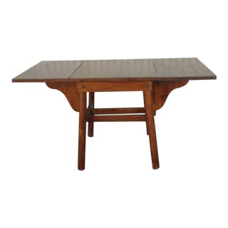 Signed Rittenhouse Furniture Rustic Drop-Leaf Dining Table