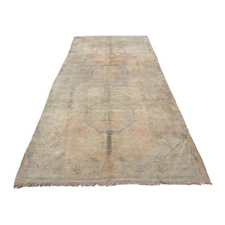 Antique Oushak Runner Rug - 4′11″ × 11′1″