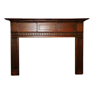 Federal Style Pine Wooden Mantel