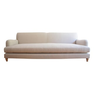 Custom Roll Arm Sofa With Modern Lines