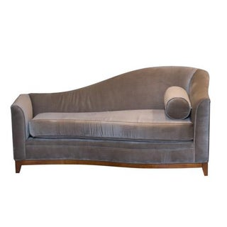 Light Brown Mohair Chaise Lounge