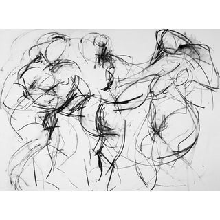 """""""Celebration of the Three Graces"""" Charcoal Drawing"""