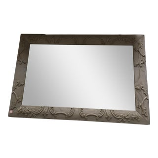Neoclassical Solid Wood Gray Mirror