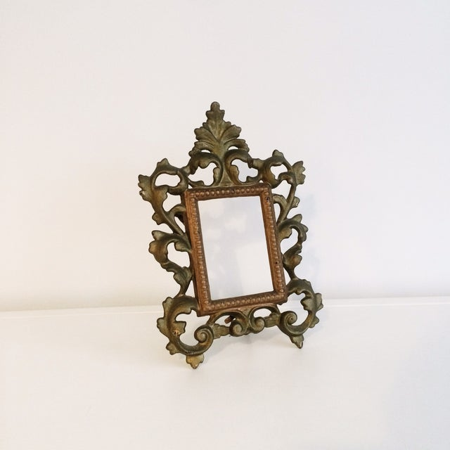 Image of Cast Iron Gold Easel Frame