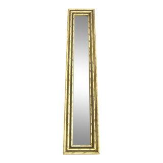 Oblong Bamboo Framed Wall Mirror