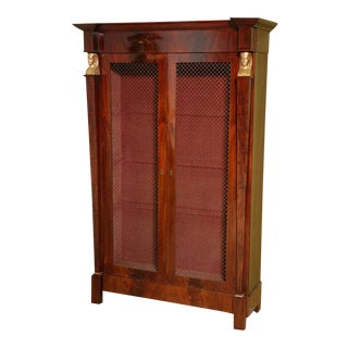 French Empire Mahogany and Giltwood Biblioteque