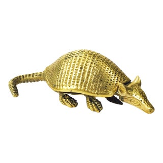 Vintage Brass Armadillo Paper Weight