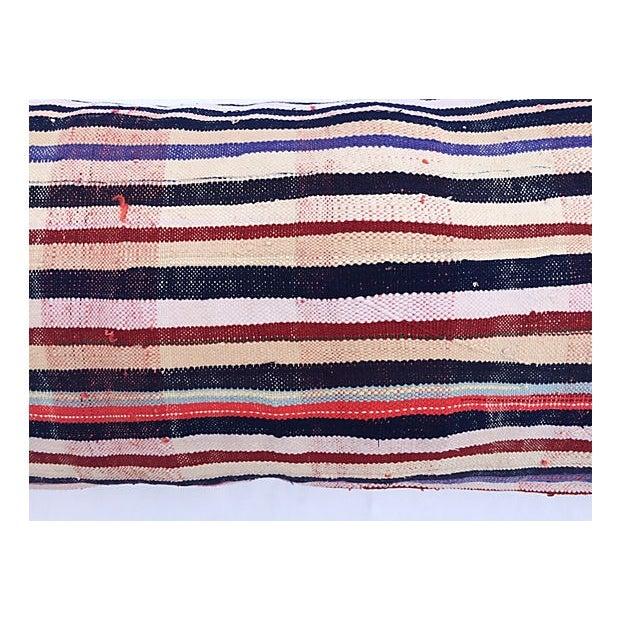 Oversized Moroccan Handira Lumbar Pillow - Image 7 of 7