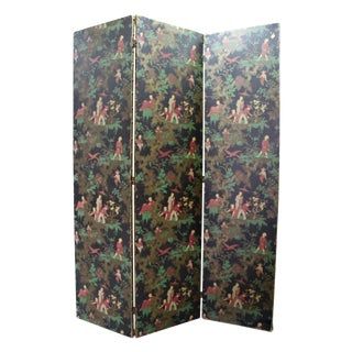 Antique Chinoiserie Folding Floor Screen
