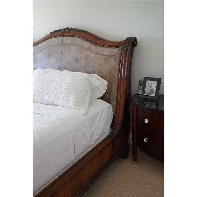 Henredon California King Sleigh Bed Frame - Image 2 of 10