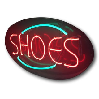 "Vintage Neon ""Shoes"" Sign"
