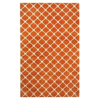 Cococozy Hand-Knotted Wool Fence Rug - 5' X 8'